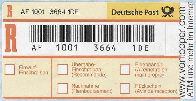 etiketten zw 3664