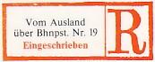 Bahnpostamt 19 (BPA) Frankfurt/Main